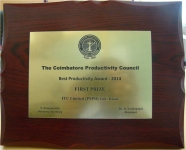 ITC PSPD's Unit Kovai wins First Prize at 'Best Productivity Awards-2014'